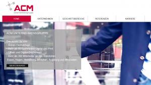 Screenshot ACM Unternehmensgruppe